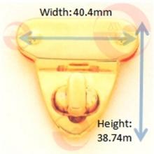 Cerradura de la torsión de la vuelta del triángulo de la aleación del cinc del metal para el bolso