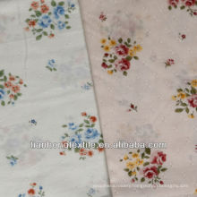 Woven Cotton Jacquard Digital Printed Flower Fabric