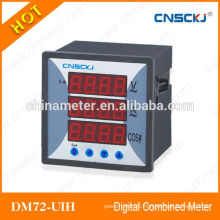 DM72-UIH digital voltage current power factor combined meters CE certification