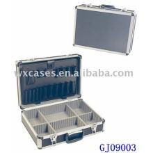 Сильный Алюминиевый чемодан с раскладными инструмент поддон и регулируемой отсеки внутри Пзготовителей