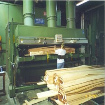 Rotary veneer peeling machine for wood cutting