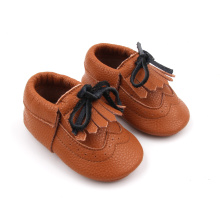 Mjukt billigt läderbarn 0-24months walking casual shoes