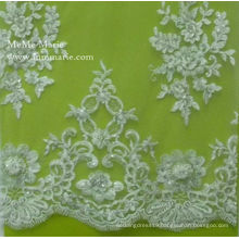 2014 Embroidery Grass Lace Fabric High Quality Fashion Elastic Lace Bridal Gown Trimming 52'' No.CA061B