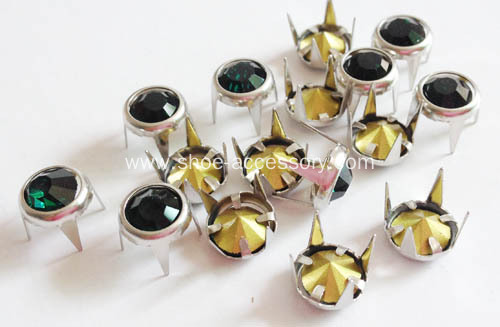 8mm Colored Jewel Set in Ring Stud