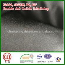 """46gsm PA 60 """"interlining fusible tecido cor preto da largura"""