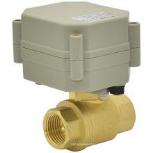 Válvula de bola de agua de latón motorizada 2 vías del OEM (T15-B2-A)