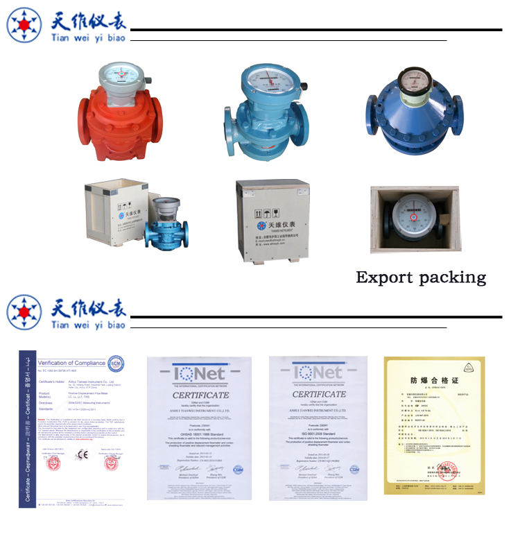 Gasoline,kerosene,diesel flow meter package