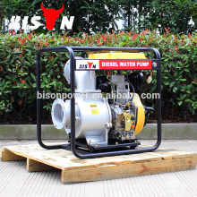 BISON China Taizhou 6inch de alta pressão industrial diesel gerador de bomba