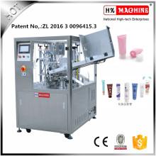 Máquina de llenado y sellado de tubo suave de pasta de vainilla con CE