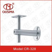 Soporte de estante de cristal de acero inoxidable para pasamanos (CR-328)