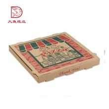 Diferentes tipos de embalagens descartáveis personalizadas para pizza