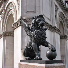 2018 vente chaude columbia petit bronze volant lion statue