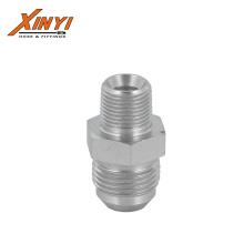 1J JIC Male 37 cone seat carbon steel zinc plating hydraulic jic fittings jic hydraulic hose  adapter