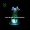 Стеклянный угольник, удерживающий звезду для домашнего украшения от BV, SGS (диаметр: 8 см, высота: 12,8 см)