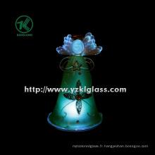 Glass Angle Holding Star pour décoration intérieure par BV, SGS (Dia: 8cm h: 12.8cm)