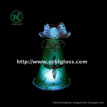 Glass Angle Holding Star for Home Decoration by BV, SGS (Dia: 8cm h: 12.8cm)