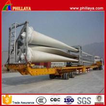 Remorque de transport de lame de vent extensible hydraulique à double axe