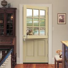 9 Lite Unfinished Hemlock Wood Prehung Front Door