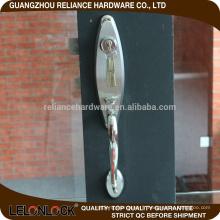 Poignée et serrure de porte coulissante en aluminium de haute qualité, serrure de porte de récipient, plaque frontale de serrure de porte