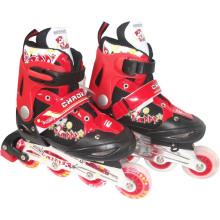 Carton Design Red Inline Skate