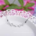 Frauen 925 Sterling Silber Fashion High Grade Heart Shaped Lila Kristall Armband