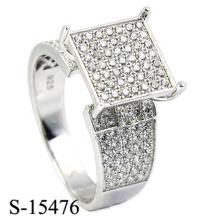 Mais recente modelo de moda jóias anel de prata 925
