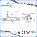 Barra de mezclador de barra cuadrada de ducha de baño termostático de cromo conjunto (AF4316-7)