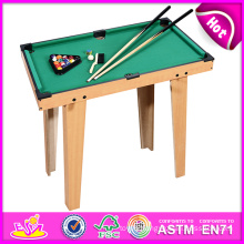 2014 Small Wooden Snooker Table, Snooker Pool Table Toy for Sale, Mini Wooden Toy Snooker Table Factory W11A032