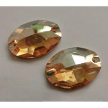 Boutons de pierres à coudre dorées