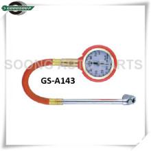 Cuerpo de metal Tipo de dial Calibre de neumático con válvula de liberación de aire de latón