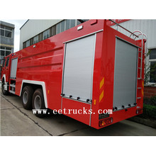 Camiones de bomberos de polvo seco HOWO de 16 toneladas