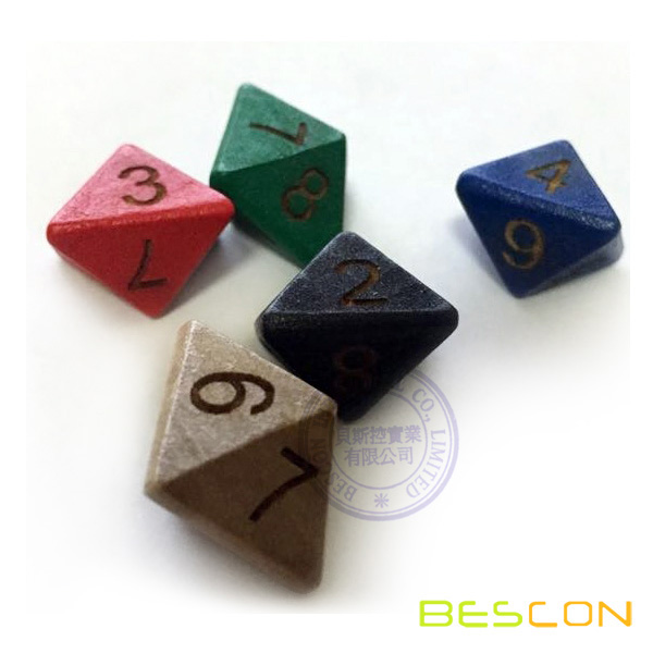 35MM Wooden Polyhedral Dice Eight Sided