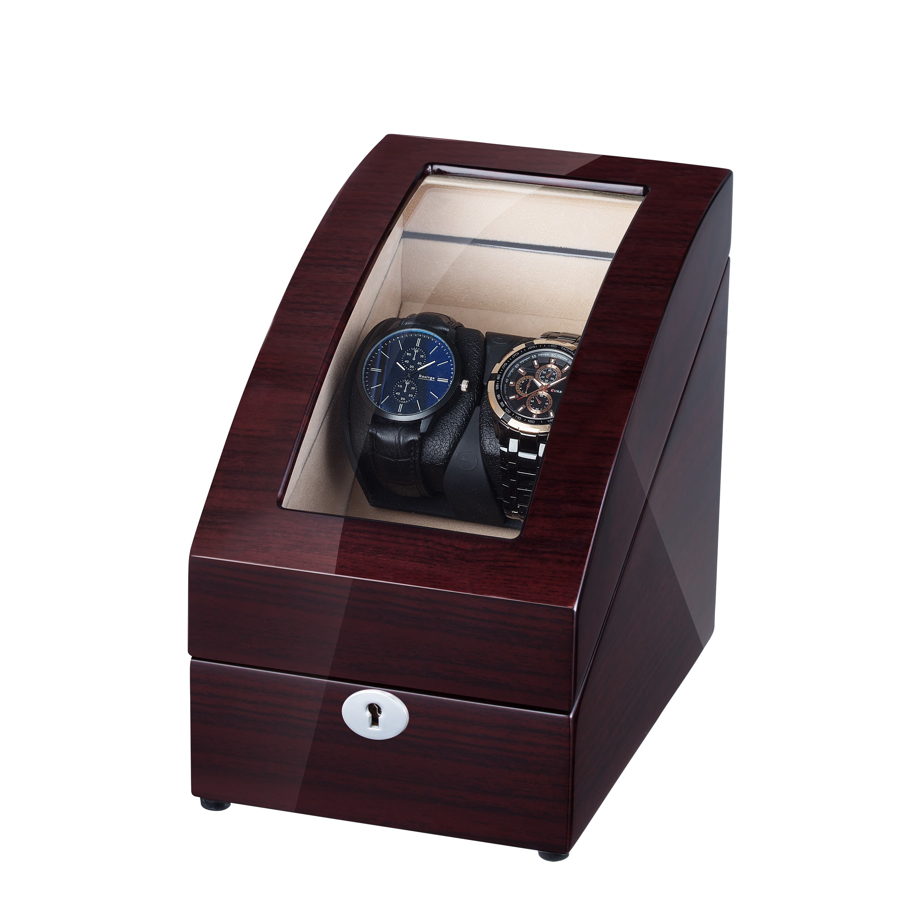 WATCH WINDER FOR 4 WATCHES, WITH STORAGE