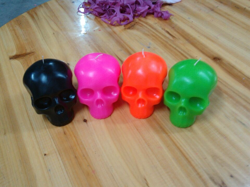 Skull Candle Mold Skull Head Candle Wax Skull Candle Skeleton