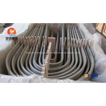 ASME SA213 TP347 trocador de calor U curva tubo