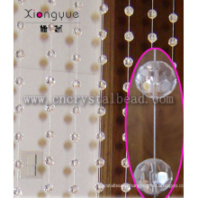 High quality faceted Glass ball Crystal Door Curtain
