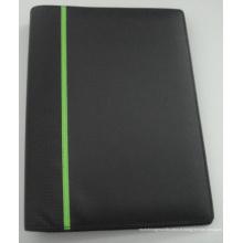 Portfolio / (LD0004) Dossier PU / Organiseur / ordinateur portable avec anneau en métal