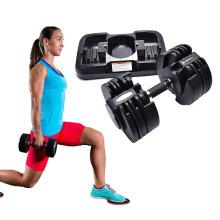Wholesale Adjustable Rubber Hex Chrome 15kg Barbell Dumbell Sets Dumbbell Strength Training Set