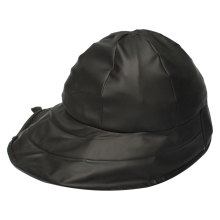 Black PU Rain Hat /Rain Cap/Raincoat for Adult