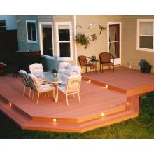 Plataforma de césped de la casa Plástico de madera (WPC) Piso de la plataforma