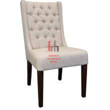 Cream High Back Dining Chair