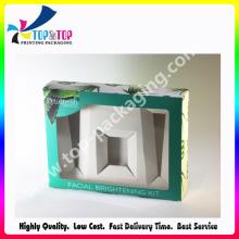 Boîte de cosmétiques pliable de conception plus récente 2015 avec fenêtre en PVC