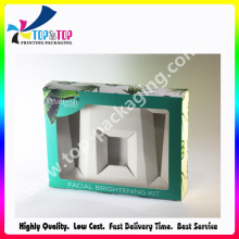 Caixa de cartão de perfume nova da chegada com janela do PVC