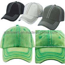 Mono de moda lavado especial de costura gruesa gorra de béisbol (TMB00005-1)