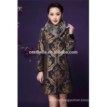 Klassische Dame Elegante Winter-lange Jacken Frauen-Frühlings-Mäntel-Frauen-langer schwarzer Mantel die Türkei
