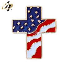 Benutzerdefinierte Gold weiche Emaille Amerika Flagge Revers Pin Hersteller aus China