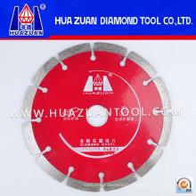 Lame de scie à diamant segmentée rouge séchée de 153 mm