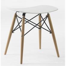 chaise de loisirs de tabouret en plastique de jambe en bois