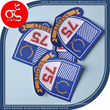 Badges tissés par uniforme faits sur commande d'école de prix usine / correction / insignes