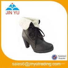 Women High Heels Snow Ankle Platform Boots Shoes